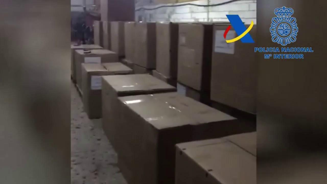 Desmantelada una fábrica ilegal con capacidad para producir un millón de cigarrillos al día