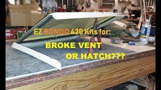 Broken RV Escape Hatch Vent or similar plastics?  Easy fix you can do