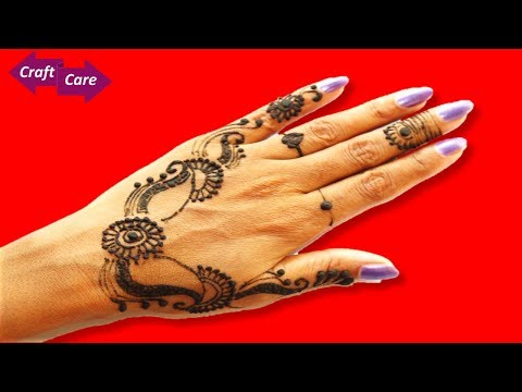 Craft Care how to apply basic punjabi mehendi design * Punjabi mehendi design tutorial - 동영상