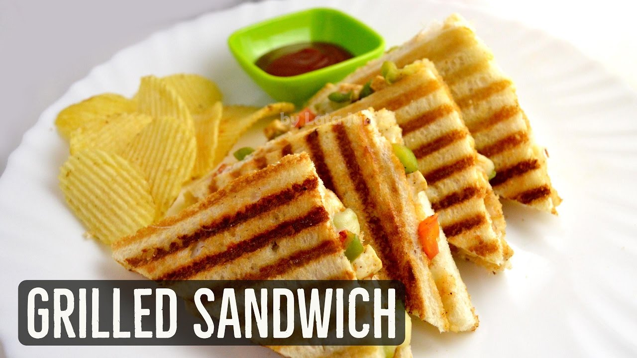 Grilled Sandwich Recipe Veg Grilled Cheese Sandwich By Lata S Kitchen Grilled Paneer Sandwich Youtube