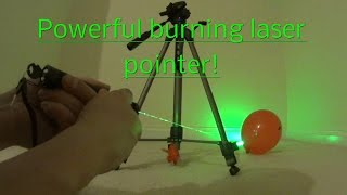 Burning laser from eBay lighting matches and popping balloons, high power laser.