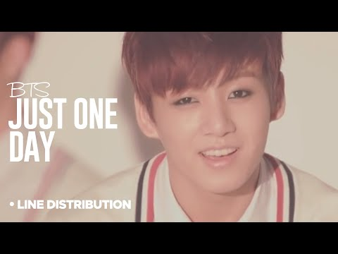 BTS - Just One Day: Line Distribution