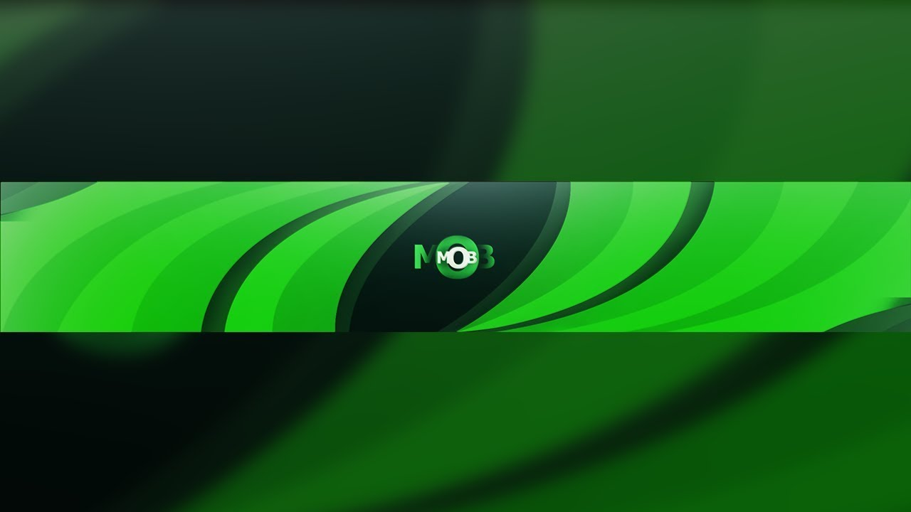 BRIGHT GREEN ABSTRACT YOUTUBE BANNER W FREE PSD ZeTra MOB Banner Speedart