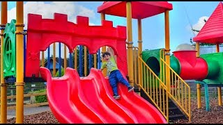 Playground Fun for Kids with Long Slides