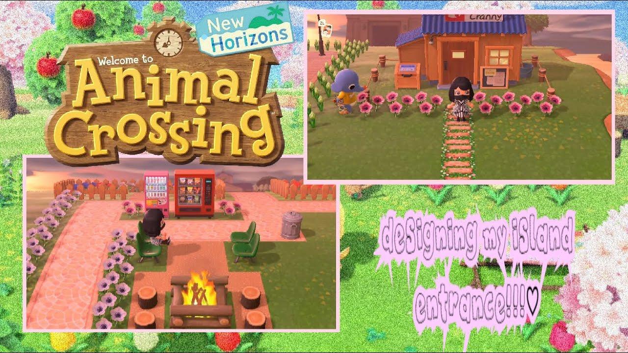 designing my island entrance! (animal crossing new ...
