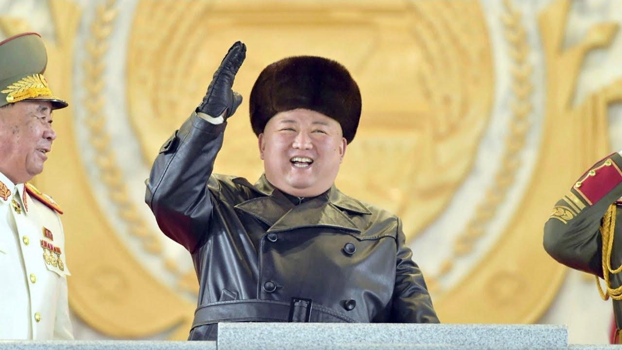 Kim Jong Un attends parade celebrating party congress