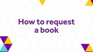How to request a book - The University of Manchester Library