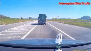 Depasiri la un pas de accident + accident grav. Romanian Style