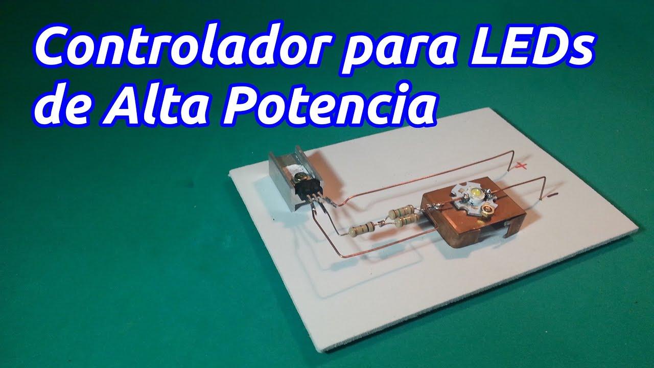 Controlador o Driver para LED de alta potencia - YouTube