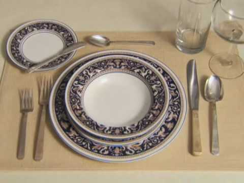 & Setting a Formal Table Setting - YouTube