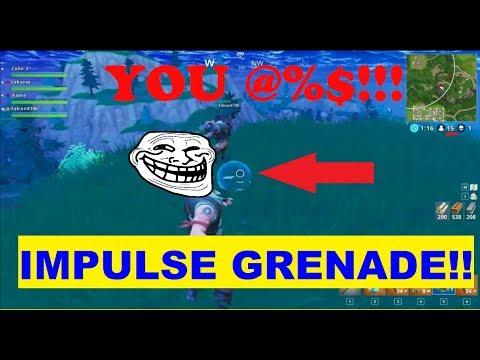 AFRICAN DUDE IMPULSE GRENADE KILLS TEAMATES!! (Fortnite Trolling & Funny Moments pt. 1)