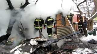 Пожар в Чернигове на Воровского часть1