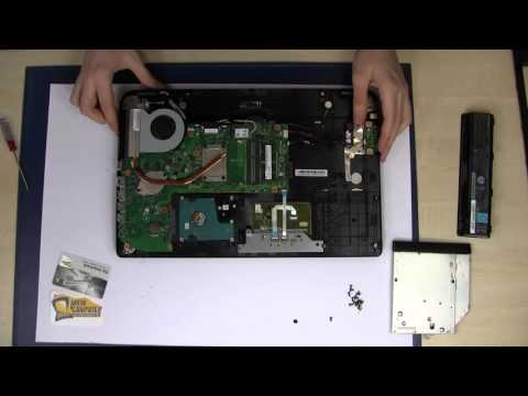 Toshiba Satellite C50 C70 RAM SSD HDD Fan Upgrade Dissassembly Notebook Repair Tutorial