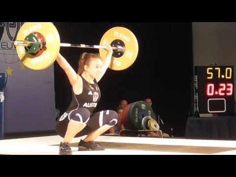 Alina Novak - U17 female - 2018 EU Weightlifting Cup - Innsbruck / AUT