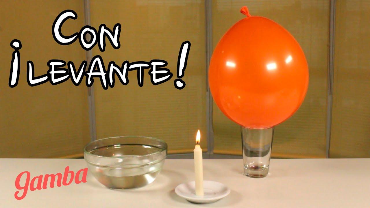 C mo levantar un vaso con un globo experimento youtube - Vaso con agua ...