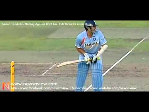 India Vs Australia Sachin's Master Blaster Inning Shots against Brett Lee