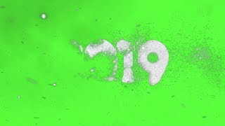 Amazing Frozen and Disappeared Green Screen Effect Happy New Year 2019 FULL HD