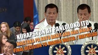 PRRD TO MEDIA - Ang BABAHO ng BUNGANGA niyo , Pareho kayo ng Maynilad/Manila Water