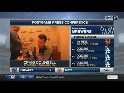 Brewers' Counsell praises Sogard, Thames after big win over Mets