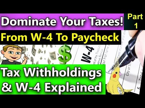 Tax Withholdings Explained! (How Your 2018 W-4 Affects Your Paycheck)