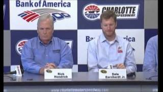 Dale Earnhardt, Jr Concussion NASCAR Video News Conference