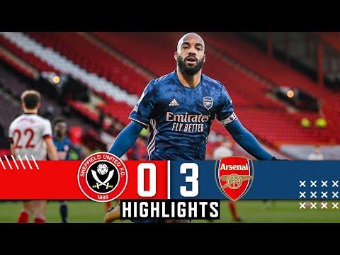 Sheffield United 0-3 Arsenal | EPL Premier League Highlights | Lacazette goals down Blades