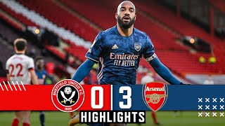 Sheffield United 0-3 Arsenal | EPL Premier League Highlights | Lacazette goals down Blades