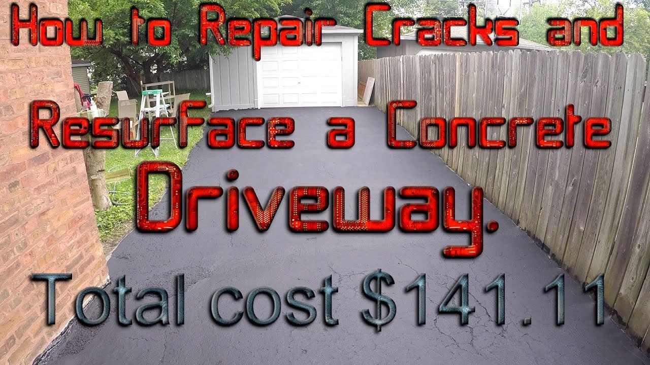 How to repair cracks and resurface a concrete driveway youtube how to repair cracks and resurface a concrete driveway solutioingenieria Choice Image
