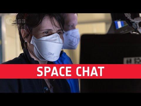 Space chat between Samantha and David