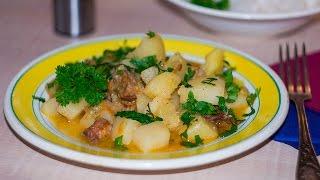 Картошка с мясом в утятнице