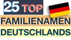 Nachnamen Deutschland – TOP 25