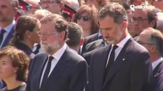Minuto de silencio desde la Plaza de Catalunya tras los atentados de Barcelona