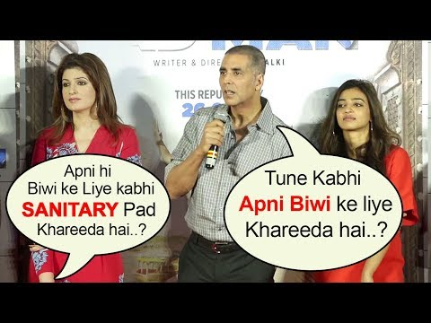 Akshay Kumar's BEST Reply To Reporters Embaressing Question On Wife Twinkle At Padman Promotions