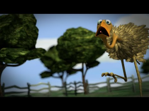 Der frühe Wurm fängt den Vogel - The early worm catches the bird, 3d animation short