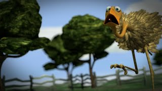 Der frühe Wurm fängt den Vogel - The early worm catches the bird, 3d animation short thumbnail