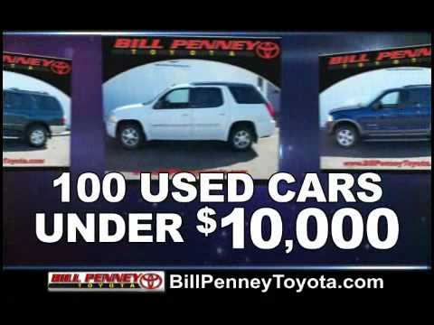 Used Cars Under 10000 >> Bill Penney Toyota Used Car Sales Event - YouTube