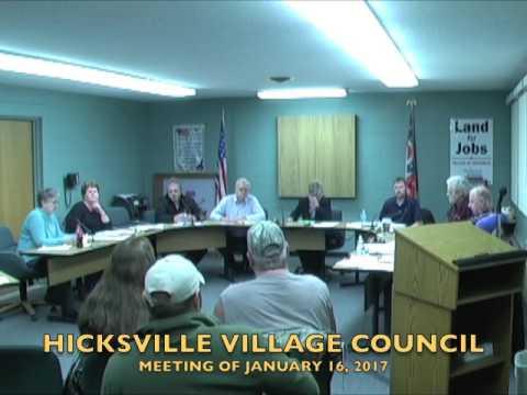Hicksville Village Council Meeting 1-16-17
