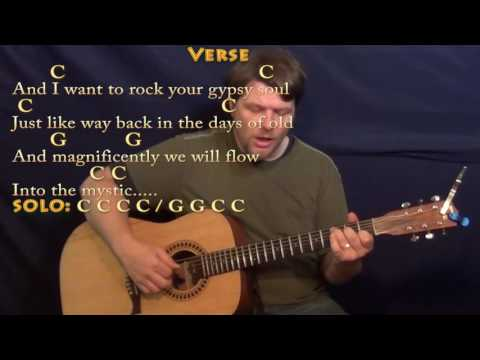 Into the Mystic (Van Morrison) Fingerstyle Guitar Cover Lesson  in C with Chords/Lyrics