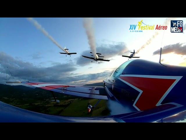 Vuelo en formación desde cámara avión Mijali Proestakis, Festival aéreo de Villarrica 2020