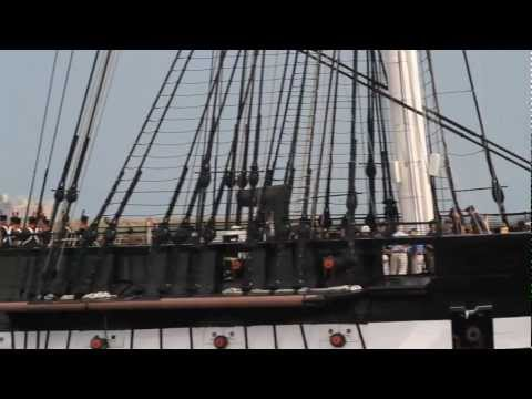 USS Constitution (Old Ironsides) sets sail today for the 2nd time in over a century