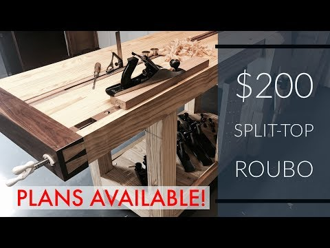 Split-top Roubo Workbench Tour | For Left-handed Woodworkers