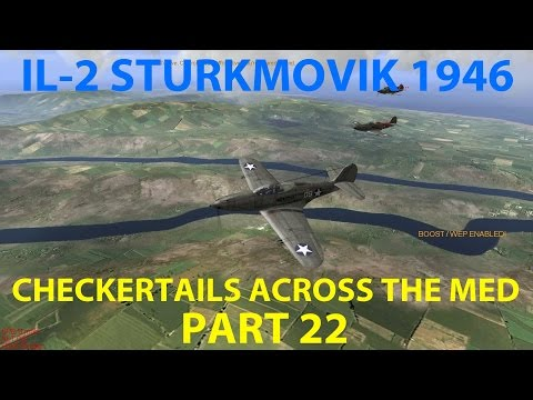 IL-2 Sturmovik 1946 - Checkertails Across the Med (P-40 Camp