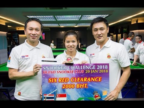 6 red clearance by Nutcharut Wongharuthai in Snooker Challenge 2018