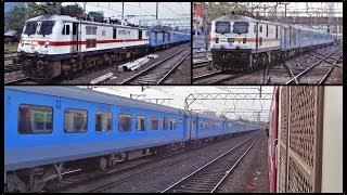 SHATABDI COLLECTION - 20 Parallel Actions and Overtakes by the 12009 Ahmedabad Shatabdi...