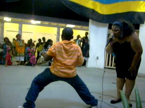 aaron dances with therese hepburn in bimini