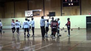 Ball Hockey Fights - Ball Hockey Brawls - Surrey Crooks vs. Pacific Jaguars (More Fights - Music)