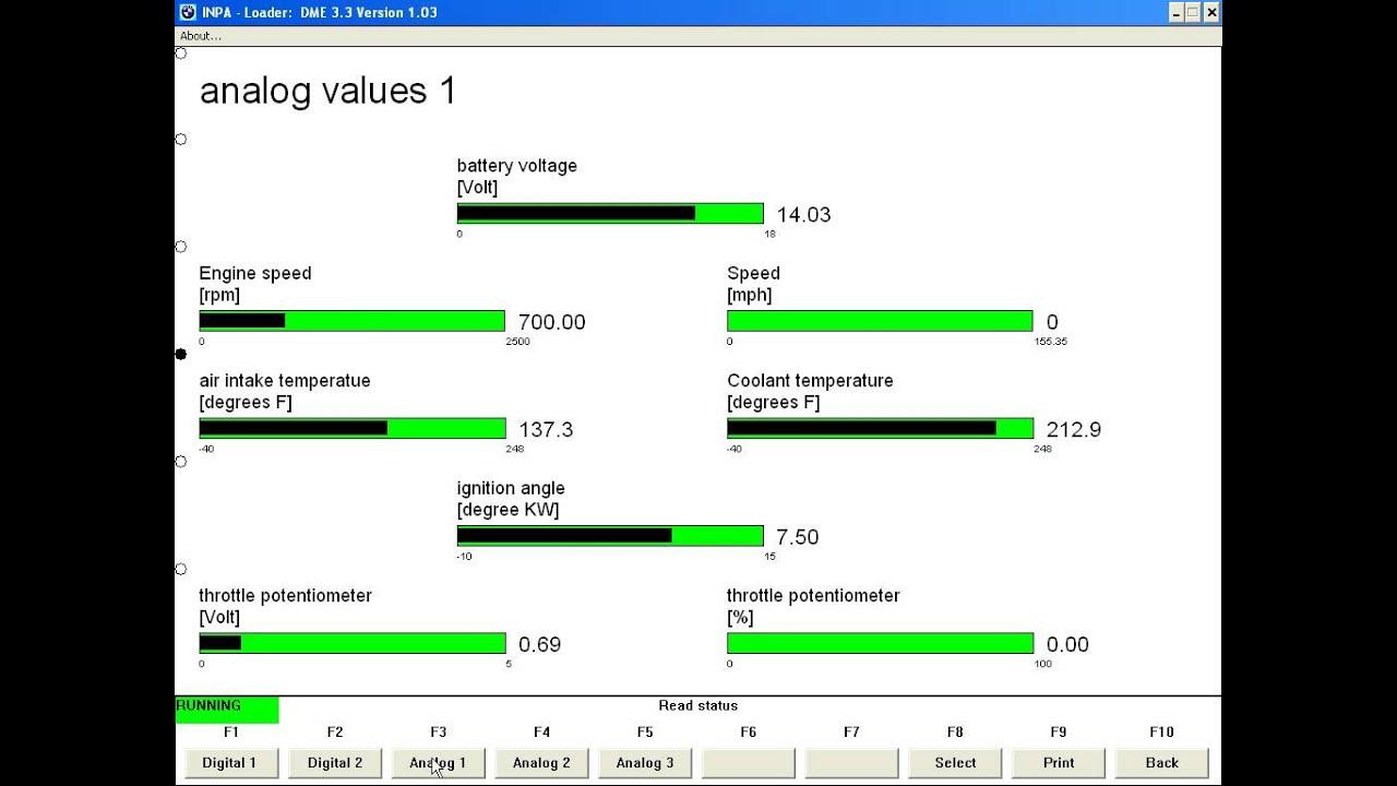 1995 Bmw 530i Inpa Live Data 1 Youtube