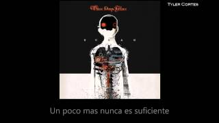 Three days grace - One too many Sub Español