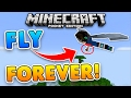 FLY FOREVER in Minecraft PE w/ ELYTRA!! Infinite Elytra Wings Addon
