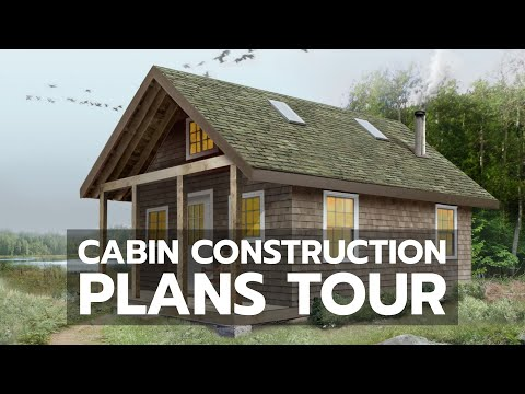 How to Build a Cabin Tour the Construction Plans YouTube